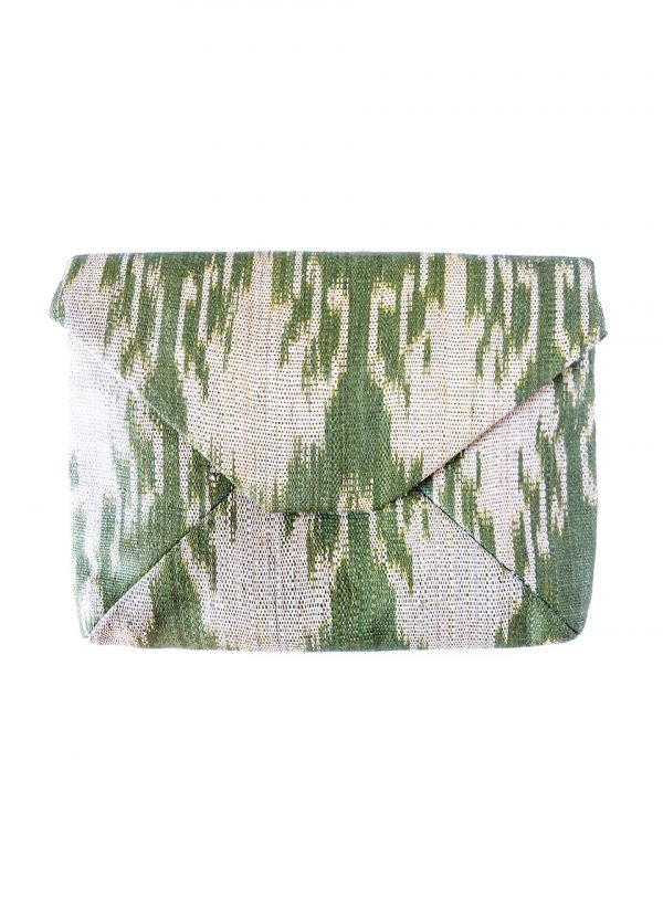 Gimik Abaca Clutch in Green-1